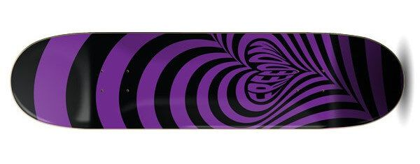 Freedom Hypnolove Halloween Purple Skateboard Deck
