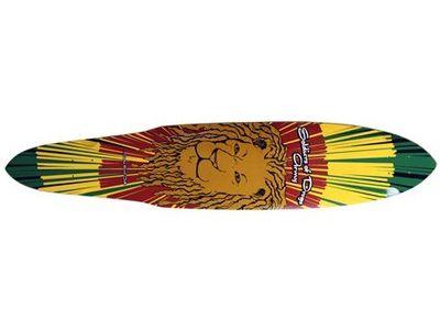 Dregs Rasta Lion Pintail Longboard-Deck 44 x 9
