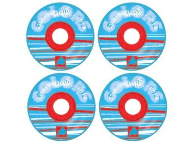 Cliche Skateboard Rollen Colors Rot/Cyan 101A 53mm