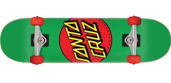 Santa Cruz komplett Skateboard Classic Dot Mid green 7.8