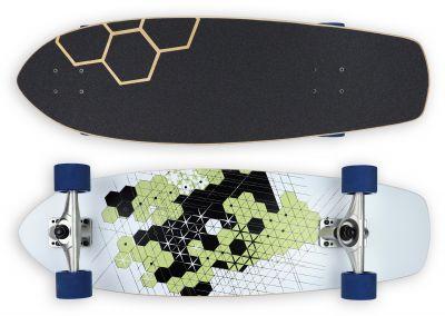 "Impact Surfskate ""Tokyo Sketch"" Smooth Carve"