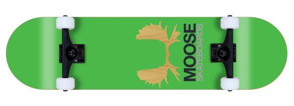 Moose komplett Skateboard Antlers green