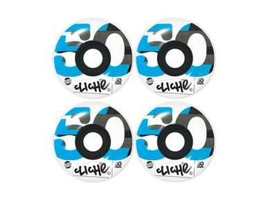 Cliche Skateboard Rollen Black-Core-Cyan 100A 50mm