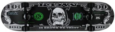 Krown Pro Black Dollar Complete Skateboard 8.0
