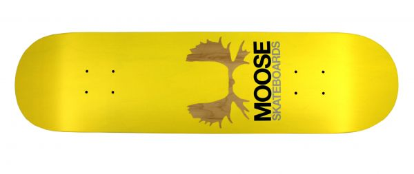 Moose Skateboard Deck Antlers Yellow