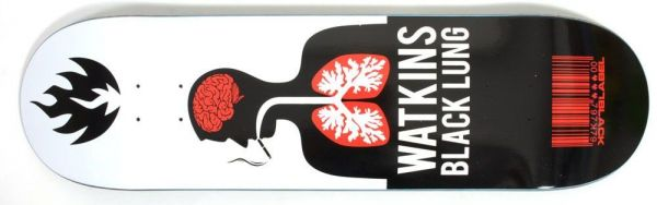 Black-Label Watkins Black Lung Skateboard Deck 8.68