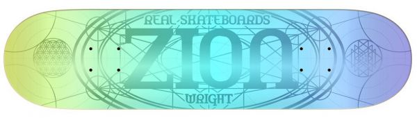 Real Wright Oval Redux Skateboard Deck 8.25