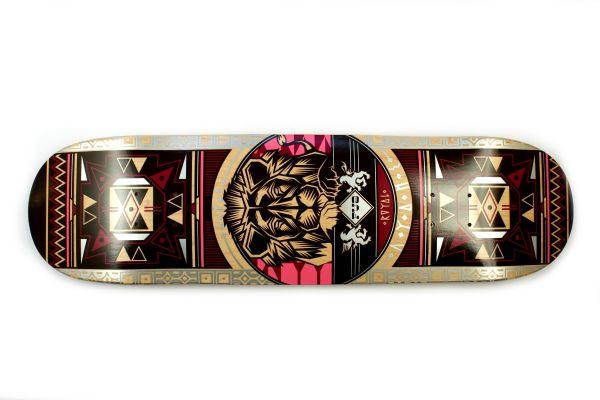 FUA Lion magenta Skateboard Deck 7.88