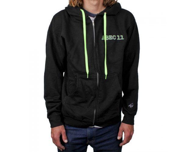 ABEC 11 Zipped Hoodie Black L