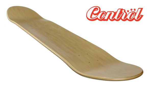Control premium Blank Skateboard Deck natural Low 9.0