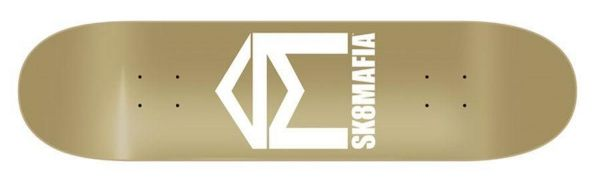 Sk8Mafia House Logo Gold Skateboard Deck 8.00