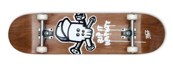 MOB Skateboards Skull Wood Komplett Skateboard 8.25