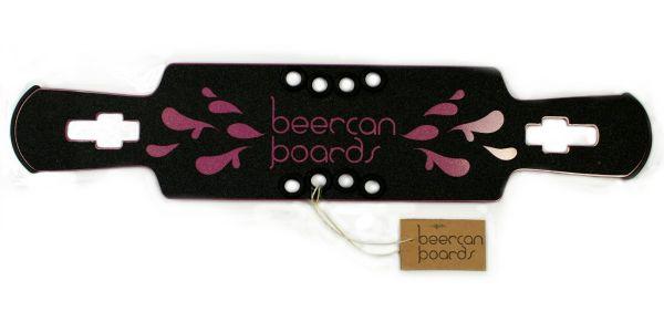 Beercan Kegger Lite Drop Through Longboard Deck glitter purple 37