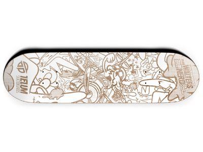 Telum Walters/Nerd Serie No.1 lt. Grey Skateboard Deck 7.75