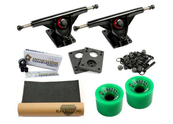 Amok Downhill 180 Black Pro Longboard Achsen Set