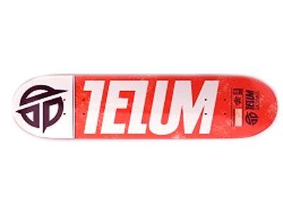 Telum Logo Red Skateboard Deck 7.875