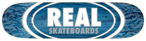 Real Team Oval Pearl Patterns Skateboard Deck 8.06