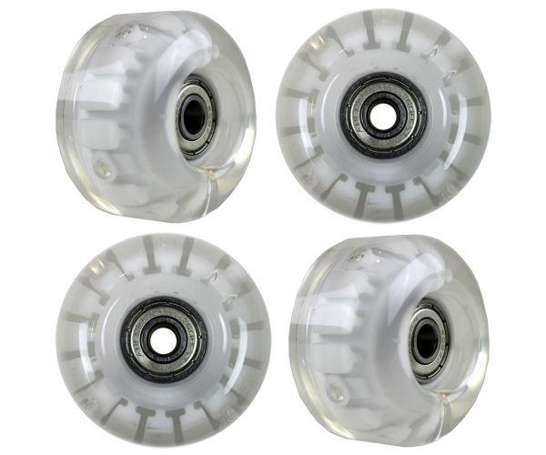 Blank Skateboard Rollen LED Weiss 99A 54mm