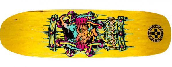 Black Label Lucero X2 Yellow Stain Skateboard Deck 8.88