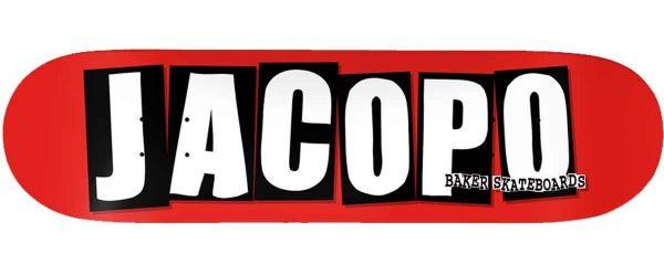 Baker Skateboard Deck Jacopo Logo 8.25