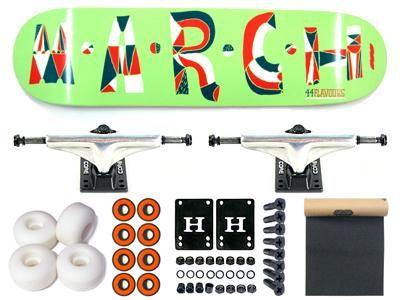 March 44 Flavours Green Komplett Skateboard 7.75