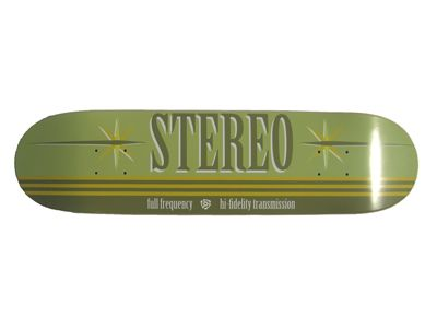 Stereo Full Frequency Green Skateboard Deck 7.63