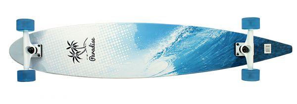 Paradise Complete Longboard Pintail Wave Ocean 47.75 x 9.0