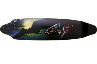 Dregs Double D La Muerta Longboard-Deck 42 x 9.5