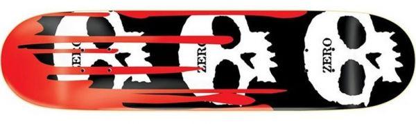 Zero Team 3-Skull Blood Black Classic Skateboard Deck 7.875