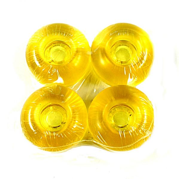 Blank Skateboard Rollen klar-gelb 99A 50mm