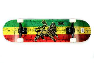 Krown Complete Skateboard Pro Trinity Rasta 8.00