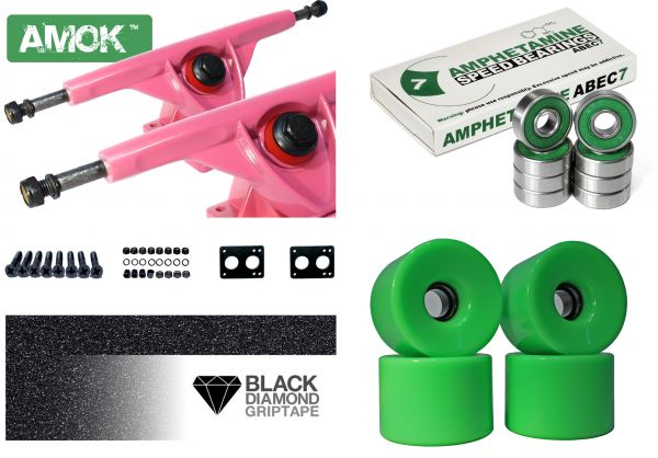 Amok Downhill 180 Pink Basic Longboard Achsen Set