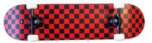 Krown Black/Red Checkered Complete Skateboard 7.75