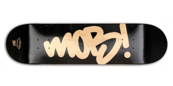 MOB Skateboards Tag Logo Deck - 8.0 black