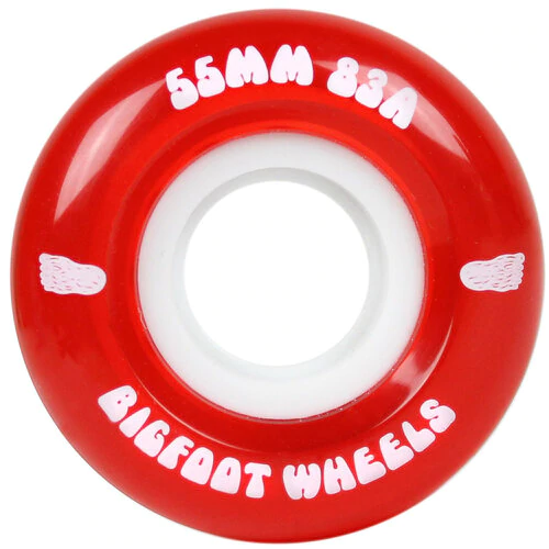 Bigfoot Cruiser Wheels Clear Red 55mm 83a
