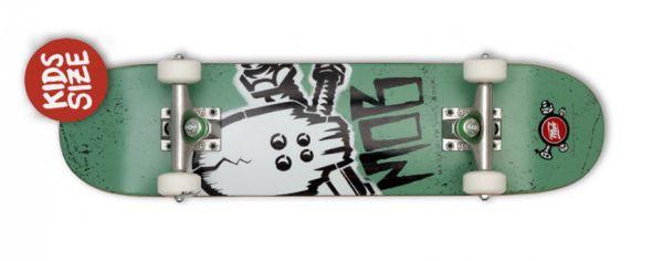 MOB Skateboards Skull Stencill Mini Komplett Skateboard 6.50