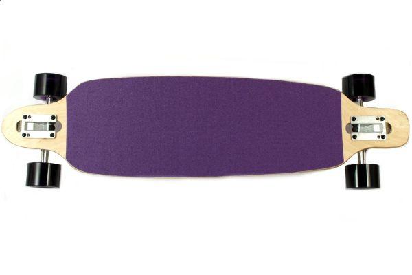 Moose Complete Longboard Drop Through Nature Purple Grip 36x9