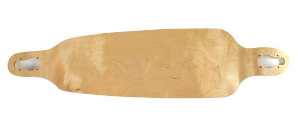 Blank Longboard Deck natural drop through 39.75 x 9.75