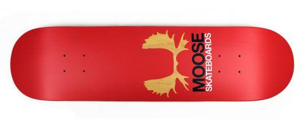 Moose Skateboard Deck Antlers Red