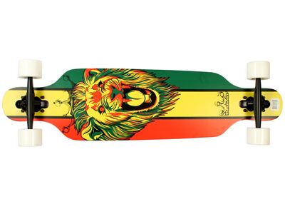 Krown - Elite Rasta Lion DropTrough Complete Longboard 36 x 9.25