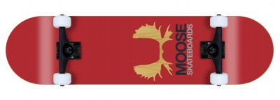 Moose komplett Skateboard Antlers red