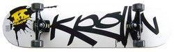 Krown Pro Black Splat Logo Complete Skateboard 8.0