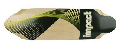 Impact Synthesis green Freeride Longboard-Deck 36 x 9.75