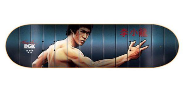 DGK X Bruce Lee Mirrors (Lenticular) Deck - 8.0