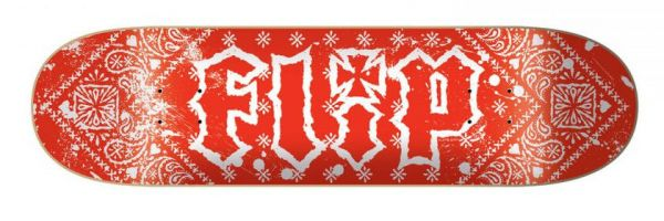 Flip HKD Bandana Red Skateboard Deck 8.0
