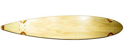 Blank Longboard Deck natural pintail 47.75 x 9.75