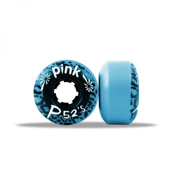 Pink Skateboard Rollen 52's Blau 99A 52mm