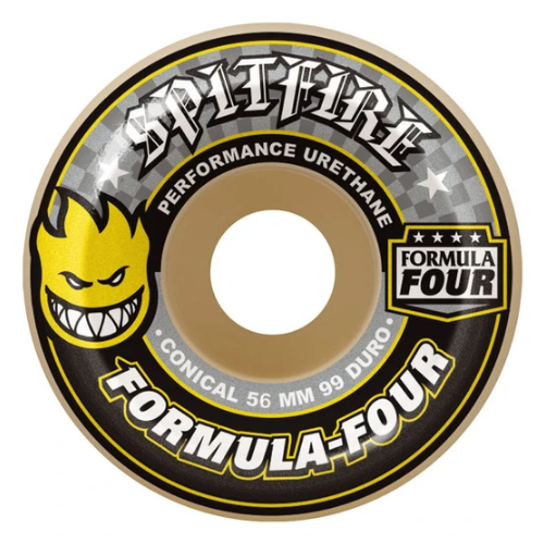 Spitfire Skateboard Rollen F4 Conical Yellow 99A 54mm