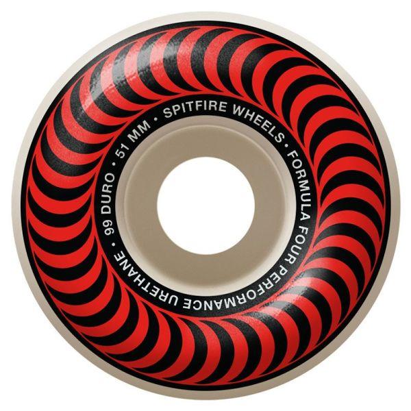 Spitfire Skateboard Rollen F4 Classic Red 101A 51mm