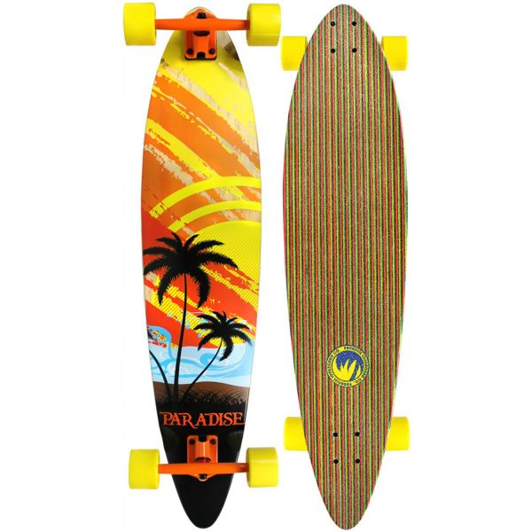 Paradise Complete Longboard Pintail Sunset Sketch 40.0 x 9.0